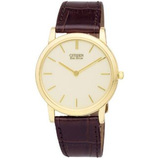 Citizen Eco Drive Stiletto Mens Goldtone Watch