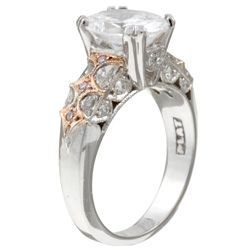 Tacori Platinum/ 18k Gold CZ and 3/4ct TDW Diamond Engagement Ring (G