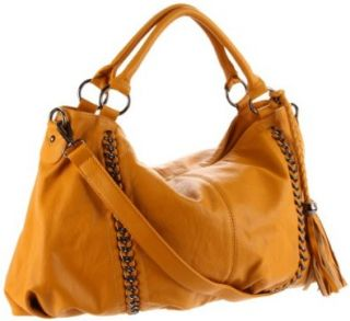 Melie Bianco Miley Slouchy Shoulder Bag,Mustard,one size Shoes