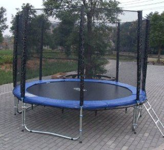 Exacme 10ft Trampoline w/ Safety Pad and Enclosure Net All