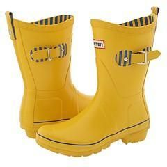 Hunter Festival Short Yellow Boots
