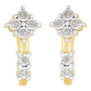 10k Yellow Gold 1/6ct TDW Diamond Fashion Earrings (J K, I3