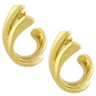 14k Yellow Gold Double C twist Earrings