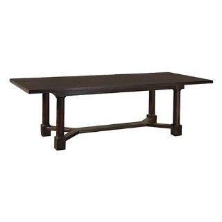 Covington Turned Post Dining Table Ebonized Oak by Bassett