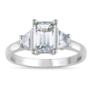 Miadora 14k Gold 1 1/2ct TDW Certified Diamond 3 stone Ring (F, VS1