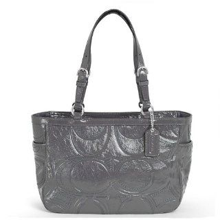 Coach Gallery Embossed Signature Stitch Patent Leather Tote Bag 18326