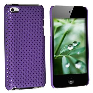 Purple Rubber Coated Case for Apple iPod touch 4th Gen