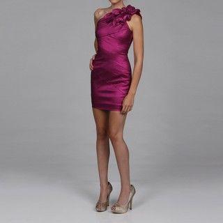 Jessica McClintock Womens Amethyst Ruched Dress