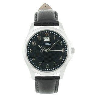 Timex Mens T2N247 Elevated Classics Dress Black Leather Strap Watch