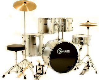 Silver Drum Set for Sale with Cymbals Hardware and Stool