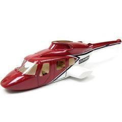 Fuselage bell 222 e sky tout fibre de verre peint pour belt cp, t rex