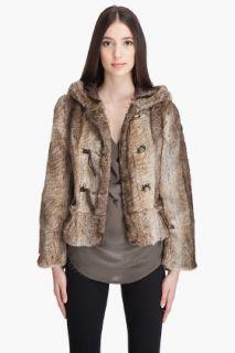 Juicy Couture Bracelet Sleeve Faux Fur Jacket for women