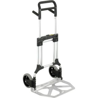 Safco Stow away Foldable Heavy duty Aluminum Hand truck with Toe Plate