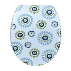 Blue Circles Designer Melamine Toilet Seat Cover