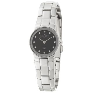Skagen Womens Glitz Stainless Steel Crystals Watch