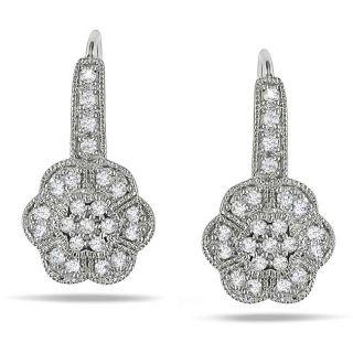 14k White Gold 1/3ct TDW Diamond Flower Earrings (G H, SI1 SI2