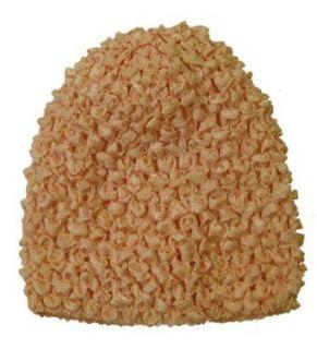 Peach Crochet Baby Hat Clothing