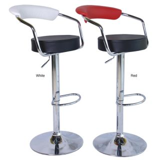 Axis Modern Adjustable Barstools Two tone Color (Set of 2) Today $174