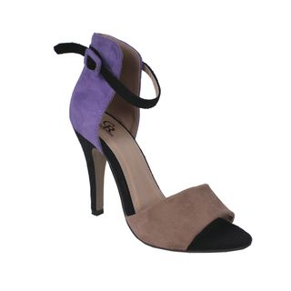 Cape Robbin by Beston Womens Oliva Purple Two tone Heel