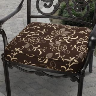 Clara 19 inch Outdoor Brown Cushion Made with Sunbrella