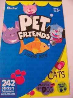 Darice Sticker Book ~ Pet Friends (242 Stickers) Toys & Games