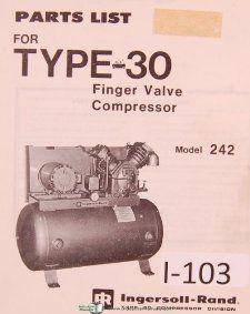 Ingersoll Rand Model 242, Type 30, Finger Valve Compressor