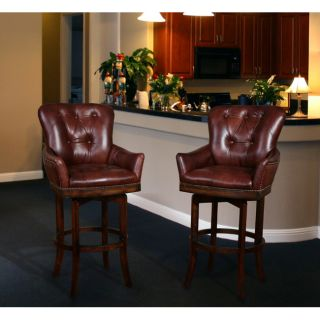 Victoria Full Top Grain Leather Barstool