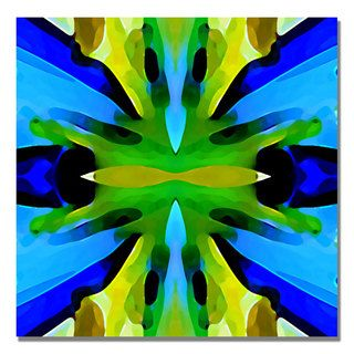 Amy Vangsgard Paradise BLue and Green Canvas Art