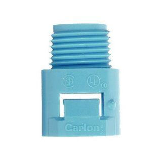 Thomas & Betts A243D CAR 1/2 Inch ENT Smurf Male Adapter, Blue