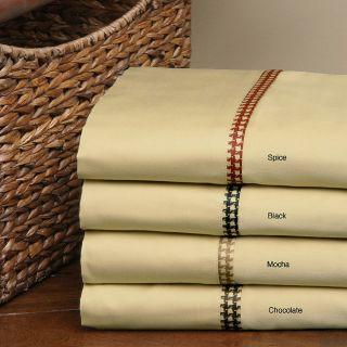 Andiamo 400 Thread Count Jacobean Cotton Sheet Set