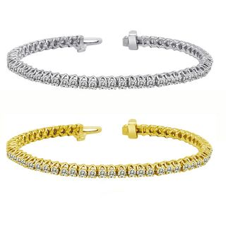 14k Gold 5ct TDW Diamond Tennis Bracelet (I J, I1 I2)