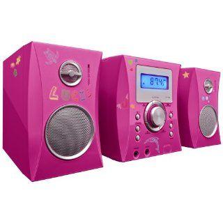 Bigben MCD06 Stereo Music Center pink/metal Weitere