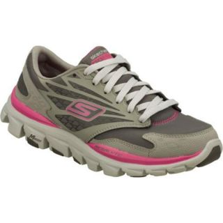 Womens Skechers GOrun Ride All Weather Gray/Pink