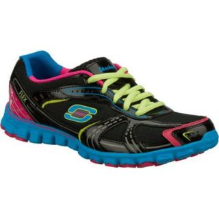 Womens Skechers EZ Flex Wild Things Black/Multi