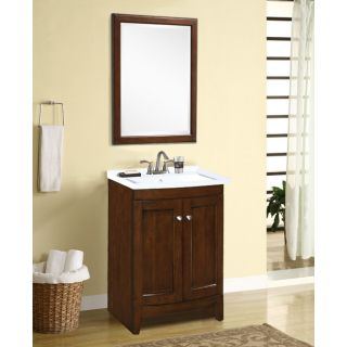 Blake Walnut Sink and Mirror Vanity Set