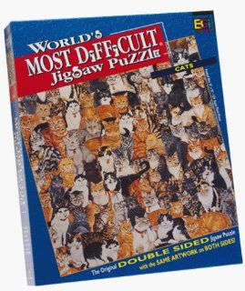 Worlds Most Difficult Cats Jigsaw Puzzle 529pc Toys