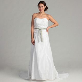 Eden Bridals Womens Beaded Strapless Bridal Dress