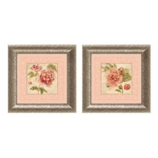 Cheri Blum Rose Acanthus Framed Wall Art (Set of 2)