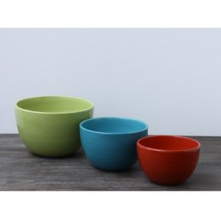 Omniware Rio Ceramic Mixing Bowls (Set of 3)