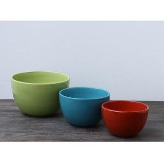 Omniware Rio Ceramic Mixing Bowls (Set of 3)