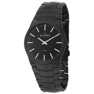 Skagen Mens Titanium Black Titanium Quartz Watch