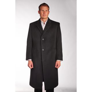 Jean Paul Germain Mens Wool/Cashmere Blend Sander Coat