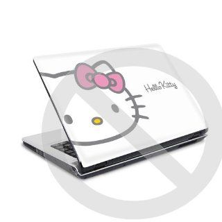 Laptop Skin Notebook Cover Aufkleber Hello Kitty white