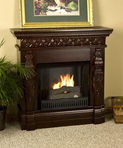 Cambridge Mahogany Gel Fuel Fireplace