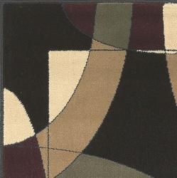 Contemporary Caroline Circles Black 3 piece Piece Rug Set (33 x 411