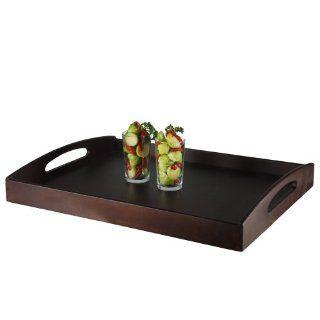 Stoha Design 042924 Tablett groß Holz dunkel gebeizt