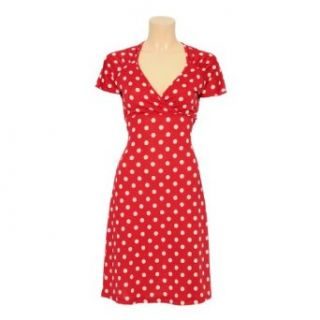 King Louie Kleid GINA DRESS PARTYPOLKA tomato red