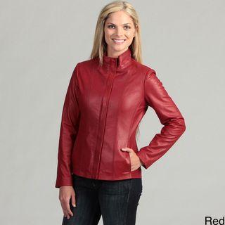 Collezione Ialia Womens Plus Size Ialia Lambskin Jacke