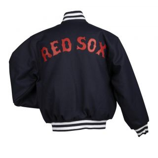 JH Designs Mens Boston Red Sox Domestic Wool Jacket