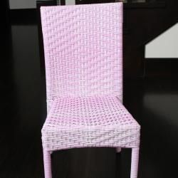 Childrens All weather Pink Wicker Chairs (Set of 2)